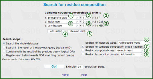 Composition search